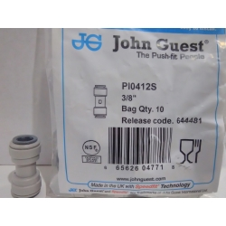 John Guest Conector Union doble 3/8